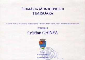 Premiul de Excelenta al municipiului Timisoara 2012